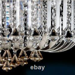 3 Couleurs + Télécommande Ctrl Bluetooth Véritable Lustre De Lumière De Plafond De Cristal