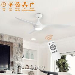 3 Lames 52inch Ventilateur De Plafond Avec Led Light Remote Control Timer 5 Speed Dimmable