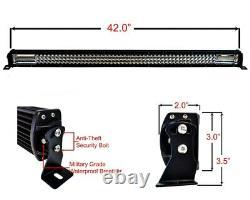 42 Ambre Blanc Double Couleur Changement Led Light Bar Harness Flash Strobe 12v 24v