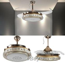 42 Led Cristal Ventilateur De Plafond Couleur Lumières Changeantes Lustre Et À Distance Au Royaume-uni Contrôle