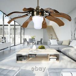 42 Plafond Mode Lumière Fan 3 Led Changer La Couleur Lustre Rétractable À Distance