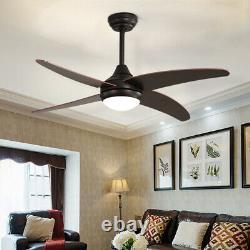 48 Ventilateur De Plafond 4 Lames Avec Télécommande 3 Vitesse Pour Chambre À Coucher Salon