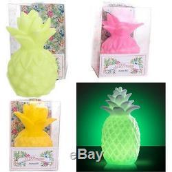 4 X Changement De Couleur Led Pineapple Table Lumineuse Mood Lampe En Plastique Éclairage Déco