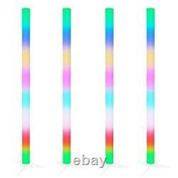 4 X Equinox Pulse Tube Lithium Led Rainbow Couleur Changer Dj Disco Party Light