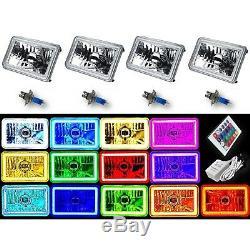 4x6 Rgb Led Cob Changement De Couleur Halo Crystal Phare Ampoule Phare Ensemble
