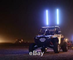5150 Led Haute Powered Whips'187 Fou Batteur Changeant De Couleur Fouet Drapeau Bluetooth