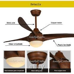 52 ' ' Dimmable Led Ventilateur De Plafond Lampe Lustre Avec Led À Distance De Grain De Bois
