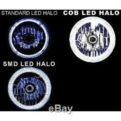 5-3 / 4 Bluetooth Cell Phone Smd Changement De Couleur Halo Angel Eye Led 6k Phares Ensemble