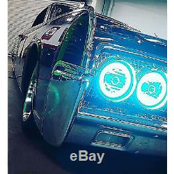 5-3 / 4 Bluetooth Rgb Smd Led Changement De Couleur Halo Angel Eye Set 6000k Hid Phares