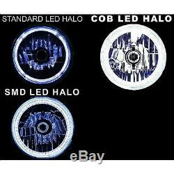 5-3 / 4 Rf Rgb Smd Changement De Couleur Blanc Rouge Bleu Vert Led Halo Angel Eye Phares