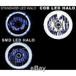 5-3 / 4 Rf Rvb Cob Changement De Couleur Blanc Rouge Bleu Vert Led Halo Phares Angel Eye