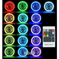 5-3/4 Rgb Smd Color Change Blanc Rouge Rouge Bleu Vert Led Halo Angel Eye Headlight Set
