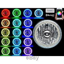 5-3 / 4 Téléphone Portable Bluetooth Rgb Smd Changement De Couleur Led Phare Halo Angel Eye Set
