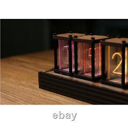 6-digit Walnut Rgb Led Tube Horloge Diy Kit Retro Plateau De Bureau Horloge Pas Nixie