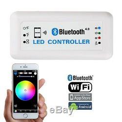 7 App Téléphone Bluetooth Rgb Smd Changement De Couleur Led Paire De Phares Halo Angel Eye H4