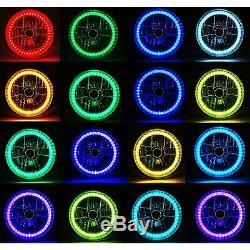 7 Bluetooth Téléphone Portable Rgb Smd Changement De Couleur Led Halo Angel Eye-phares Paire
