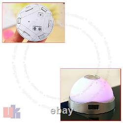 7 Couleur Changeant LCD LCD Alarm Clock Snooze Led Light Projector Time Uked