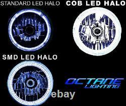 7 Multi-couleur Blanc Rouge Bleu Vert Rgb Led Smd Halo Angel Eye Phares Paire