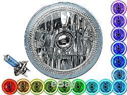 7 Paire De Phares Angel Eye De Halo Multicolores Blanc Rouge, Vert, Vert, Rgb Smd Led