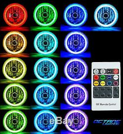 7 Phares Hid 6k Dhi Multicolores Blanc Rouge Bleu Vert Rvb Smd Led Halo