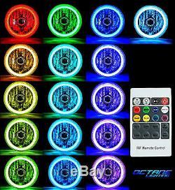 7 Phares Hid 6k Dhi Multicolores Blanc Rouge Bleu Vert Rvb Smd Led Halo