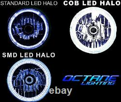 7 Rgb Smd Led Multi-color White Blue Blue Halo Angel Eye Headlights Paire