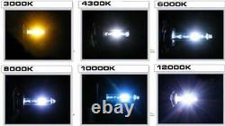 7 Rgb Smd Multi-color White Red Blue Green Led Halo Angel Eye 6k Phares Hid