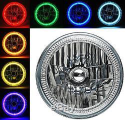 7 Rgb Smd Multi-couleur Blanc Rouge Bleu Vert Led Halo Phares Angel Eye Paire