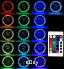 7 Rgb Smd Multicolore Blanc Rouge Bleu Vert Led Halo Angel Eye Phares Hid 6k