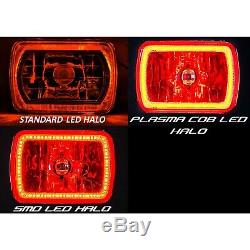 7x6 Rgb Cob Changement De Couleur Blanc Rouge Bleu Vert Halo Angel Eye 6k Led Phares