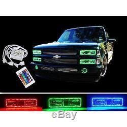 88-98 Chevy Gmc Camion Changement Multicolore Changement De Led Décalage Rgb Phare Anneau Ensemble