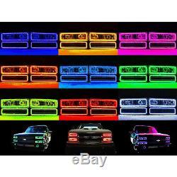 88-98 Chevy Gmc Truck Changement De Couleur De L'anneau Supérieur De Halo De Phare De Led Rvb Led Bluetooth