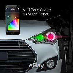9004 2in1 Phares Led Ampoules + Changement De Couleur Démon Yeux Pour Projecteur Réflecteur