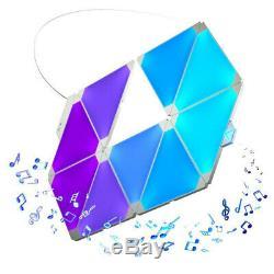 9pc Nanoleaf Light Panels Kit Applique Contrôlée Plus Intelligente Applique Édition Rythmique