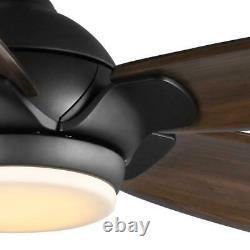 Accueil Décorateurs Collection Camrose 60 Led Bronze Ventilateur De Plafond Couleur Changing Tec