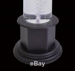 Acrylique Tube À Bulles Avec Base En Plastique Et Changement De Couleur Led Lumière Incl. Support