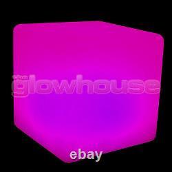 Allumer Led Couleur Changement Cube Tabouret Siège Chaise Illuminée Rechargeable Glow