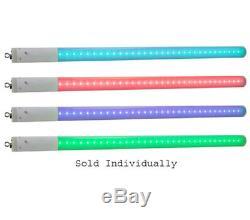 American Dj (4) Lumière Changeante De Couleur Du Tube 360 pixel Led Avec Sac Et Câbles Arriba