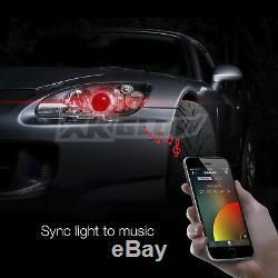 Ampoules De Phare À Del À Double Fonction 9007 + Application De Changement De Couleur Pour Smartphone Devil Eye