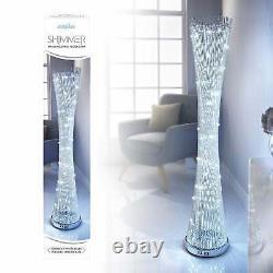Anika 145cm Aluminium Metal Bright White Led Spiral Lounge Floor Light Lamp