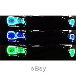 Anneau De Phares Dodge Charger Multicolores À Del Rvb, Rvb Et Bluetooth