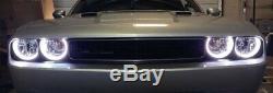 Anneaux De Halo D'oeil D'ange De Modification De Phare Rvb Led Pour 2008-2014 Dodge Challenger