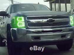 Anneaux Halo Anges Yeux Sans Fil Rvb À 7 Couleurs Pour Chevrolet Silverado Gmc Sierra