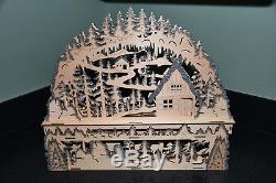 Arche De Noël Allemande Schwibbogen 3d À Led Changement De Couleur Nouveau À Piles