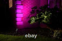 Auraglow Ip54 Rf Remote Control Colour Changing Led Gu10 Garden Spike Lights