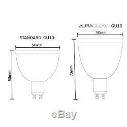 Auraglow Télécommande Rf 2,4 Ghz Rf Couleur Changant De Lumière Rgb Gu10 Ampoules À Led