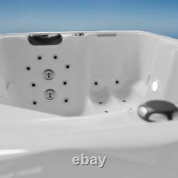 Bain À Remous Extérieur Avec Chauffage Led Ozone Hot Tub Spa Pour 2 Personnes 195x135 Wpc