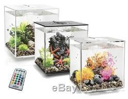 Biorb Cube 30 Led De Changement De Couleur Mcr Transparent Noir Blanc Aquarium Fish Tank