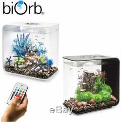 Biorb Flow 15 30 Mcr Réservoir De Poissons D'aquarium Noir Et Blanc À Changement De Couleur Led