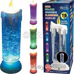 Bougie De 18cm Scintillant Glitter Led Color Changing Flameless Snow Light